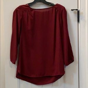 The Limited 3/4 Sleeve Burgundy Blouse XS